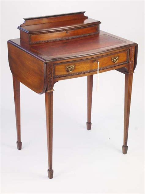 Small Antique Mahogany Ladys Writing Desk