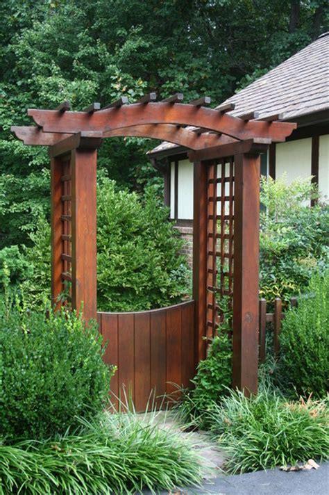 garden gate  pergola contemporary landscape dc