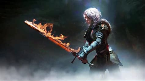 Witcher Animated Wallpaper - ciri sword the witcher live wallpaper 3dlwp
