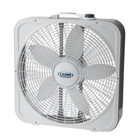 Lasko Floor Fan Home Depot by Lasko 20 In 3 Speed Weather Shield Premium Plus Box Fan