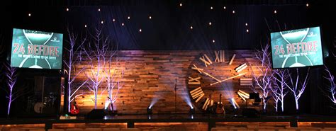 church stage designs pallet clock church stage design ideas