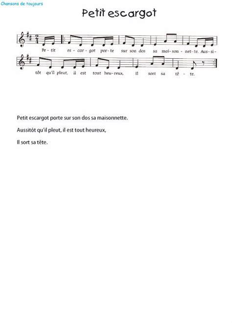 la chanson petit escargot en vid 233 o