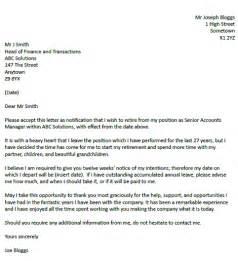 Resignation Letter Sample Nz   Example Good Resume Template