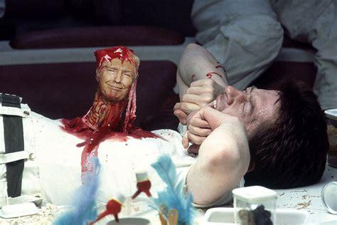 trump movie horror donald classic scenes stars dog alien silence viral lambs
