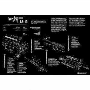 Tekmat 12x36 Inch Colt Rifle Parts Diagram Image Cleaning Maintenance Bench Mat