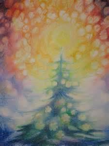 Waldorf Christmas Painting