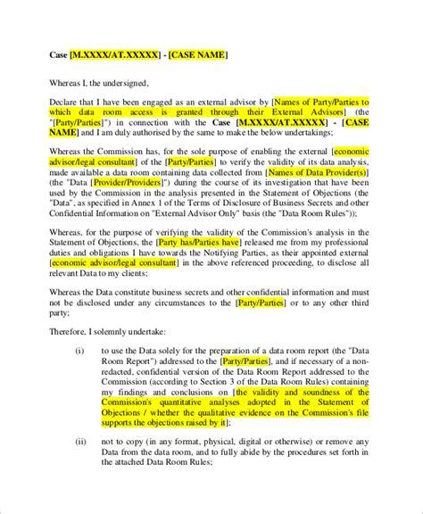 Non Circumvention Non Disclosure Agreement Template by Non Circumvention Agreement Template 28 Images 28 Non