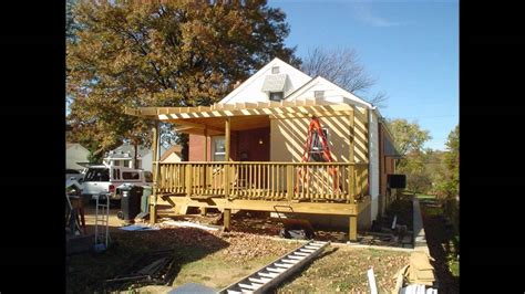 deck roof construction youtube