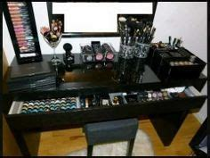 black makeup desk ikea 1000 images about makeup battlestations vanities on