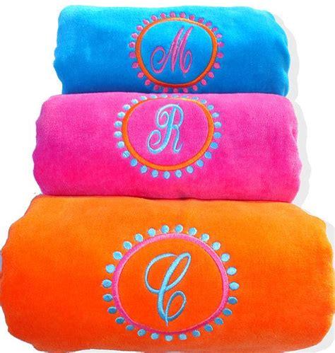 monogrammed beach towel monogrammed beach towels monogram towels