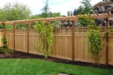 Small Trellis Fence by I This Fence Idea Privacy Yet Neighborly Trellis