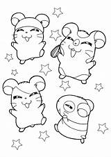 Hamtaro Coloring Pages sketch template