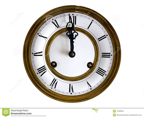 Old-fashioned Wall Clock Royalty-free Stock Photography