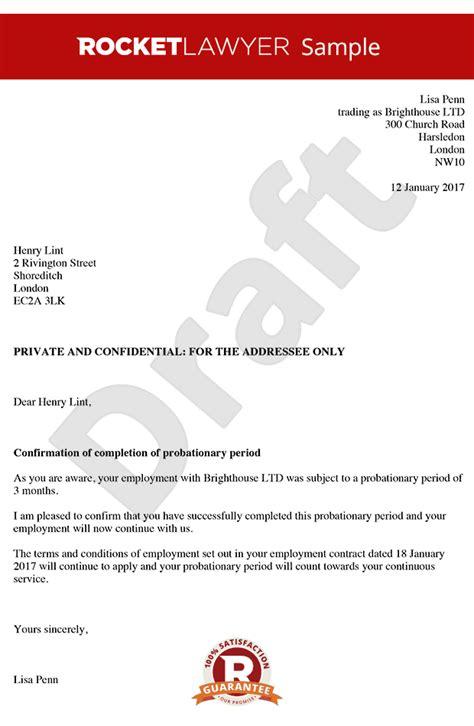 probation letter
