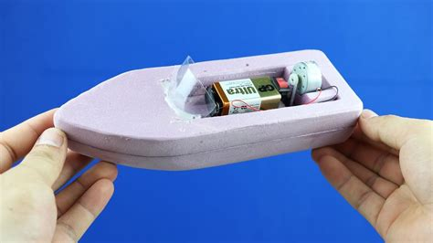 Small Boat Battery by How To Make A Boat Simple 9v Battery Foam Boat Mini Gear