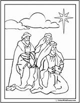 Coloring Wise Sheet Christmas Three Star Magi Jesus Colorwithfuzzy Mary sketch template