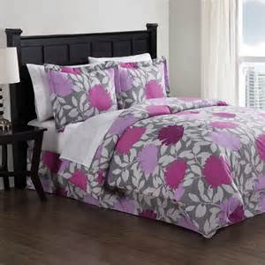 purple graphic floral comforter set rosenberryrooms com