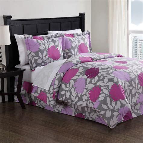 purple graphic floral comforter set rosenberryrooms com