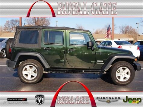 2012 black forest green pearl jeep wrangler unlimited