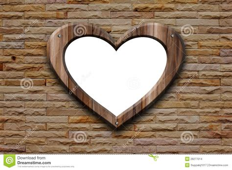 heart shape wooden frame stock images image