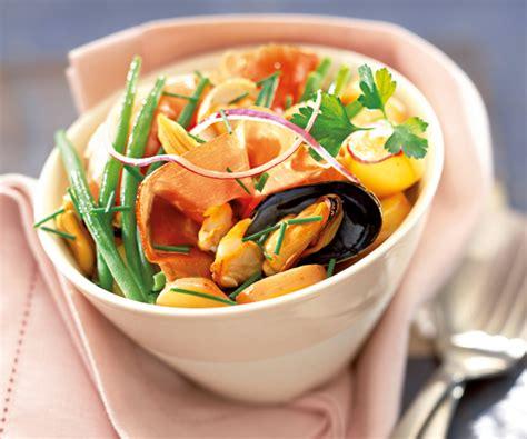 recette facile avec astuces de cyril lignac salade terre mer