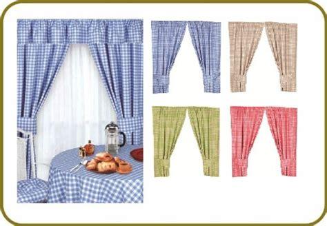 kitchen curtains 46 215 42 check design gingham green 100