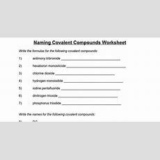 Naming Covalent Compounds Worksheet  Google Docs