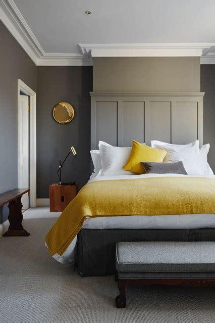 Mustard Textiles Grey Walls  Bedroom Decoration Ideas