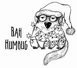 Bah Humbug sketch template