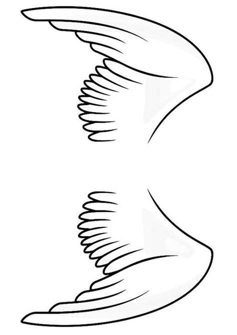 flügel basteln kostüm malvorlage fl 195 188 gel ausmalbild 20666 images