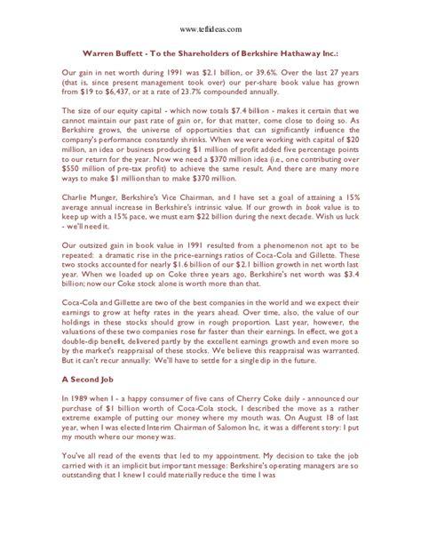warren buffett shareholder letter levelings4484