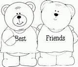 Coloring Bff Friends Friendship Faciles Dibujar Sheets Dibujos Kleurplaat Ausmalbilder Malvorlagen Amigas Amistad Freundschaft Lapiz Template Forever Say Friend Mejores sketch template
