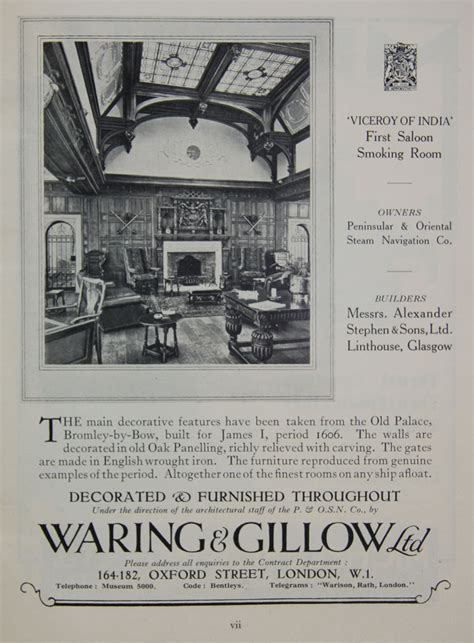 waring  gillow graces guide