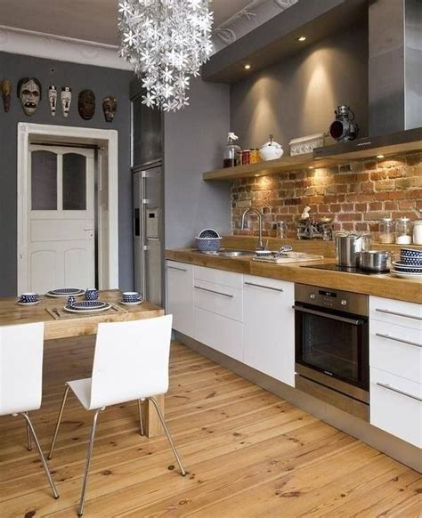 White Grey Kitchen With Exposed Brick And Natural Wood. Design A Living Room On A Budget. Living Room 2016. White Living Room Chairs. Old Hollywood Living Room. The Living Room Club Dayton. Furniture For Living Room Ikea. Objects In The Living Room In French. Luxury Living Room Description