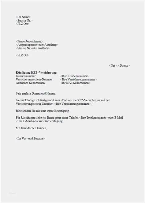 Kfz Versicherung Kuendigen by 17 Kurze K 252 Ndigung Vorlage Freyajacklin