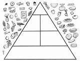 Pyramid Coloring Healthy Printable Kindergarten Worksheets Sheets sketch template