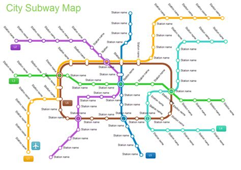 Floor Plan Software Windows by Examples City Subway Map