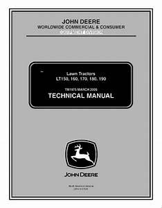 John Deere Lt150  160  170  180 Lawn Garden Tractor Pdf