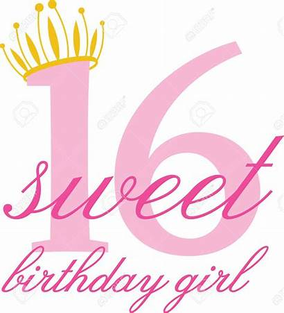 Birthday 16th Clipart Sweet Cliparts Simple Clip