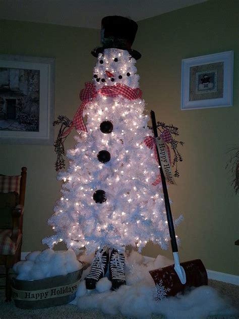 diy christmas tree snowman home design garden