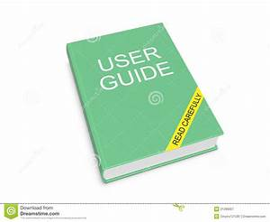 User Guide On The White Background Royalty Free Stock