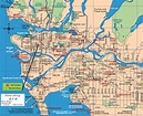 Vancouver Map Tourist Attractions - TravelsFinders.Com