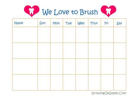 Toothbrush Brushing Chart