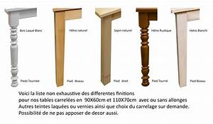 Pied De Table En Bois : table rectangulaire carrel e avec 2 allonges made in ~ Dailycaller-alerts.com Idées de Décoration