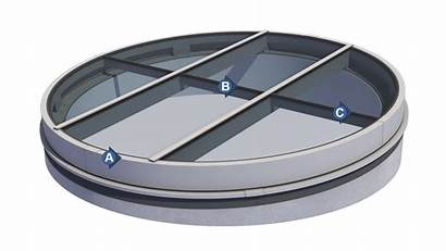 Round Skylight Skylights Structural Cutaway Enlarge Commercial