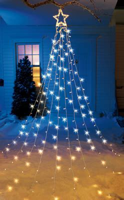 string light christmas tree with star from collections etc