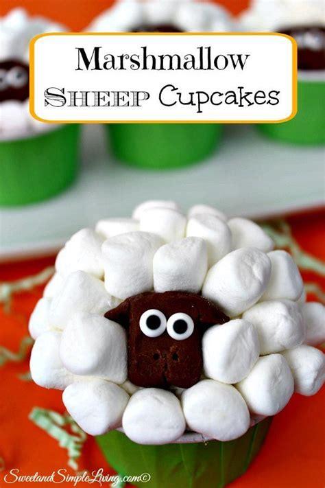 marshmallow sheep cupcakes  cute