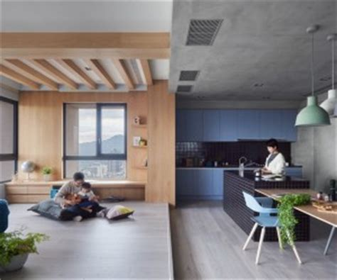 Converted Industrial Space Becomes A Pretty Apartment by School Converted Into Small Home By Architecture Student