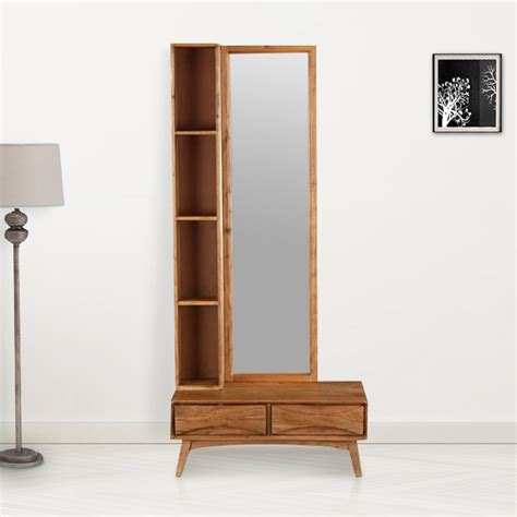 buy nordland acacia wood dressing mirror  walnut brown