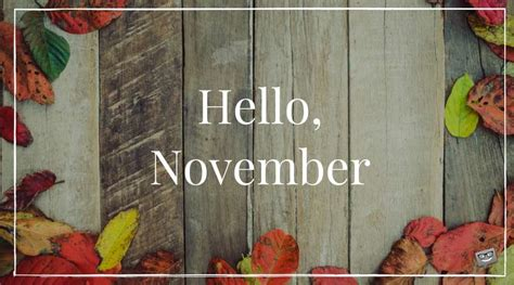 good morning  november